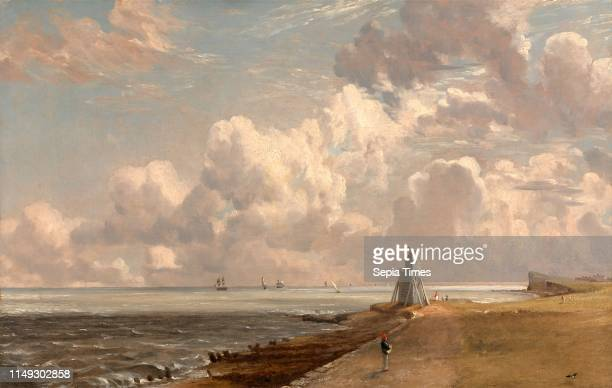 The Low Lighthouse and Beacon Hill Harwich Lighthouse Harwich: Sea and Lighthouse, John Constable, 1776-1837, British