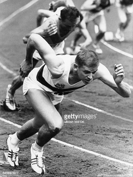 Hary, Armin *-Sportler, Leichtathletik, Sprint, DOlympiasieger 1960Weltrekord 100 Meter 1960- im 200-m-Vorlauf der Maenner bei den 60. Deutschen...