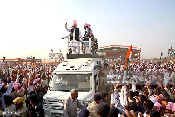 Haryana Chief Minister Bhupinder Singh Hooda AICC General Secretary Shakeel Ahmed President Haryana Pradesh Congress Committee Phool Chand Mullana...