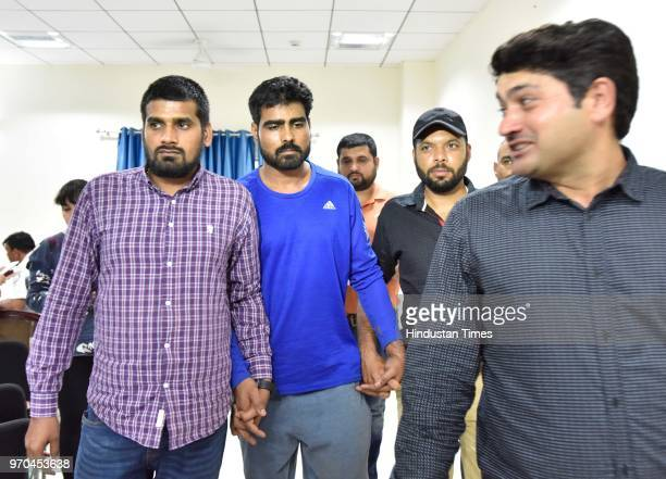 Haryana Police arrested dreaded criminal Sampat Nehra on June 9 2018 in Gurugram India Nehra who was arrested on Wednesday by a special task force of...