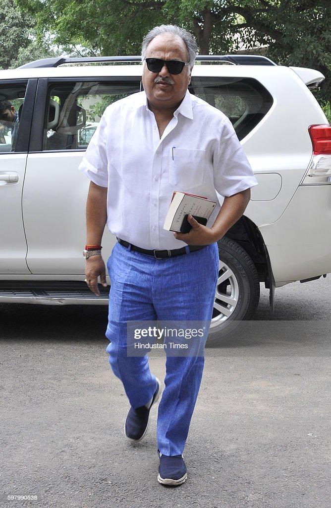 Haryana senior Congress leader Kuldeep Sharma at Haryana Vidhan Sabha on August 30 2016 in Chandigarh India