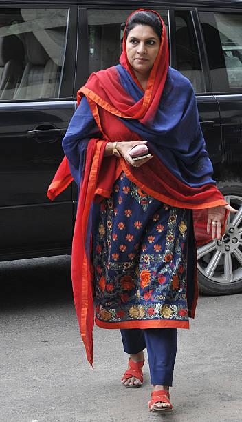 Haryana senior INLD leader Naina Chautala at Haryana Vidhan Sabha on August 30 2016 in Chandigarh India