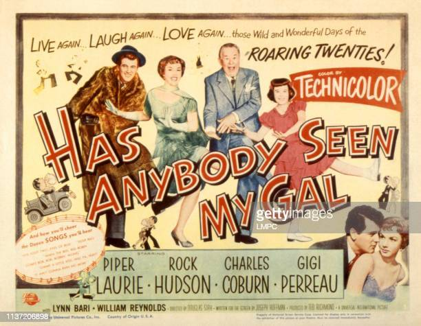 Has Anybody Seen My Gal lobbycard Rock Hudson Piper Laurie Charles Coburn Gigi Perreau 1952