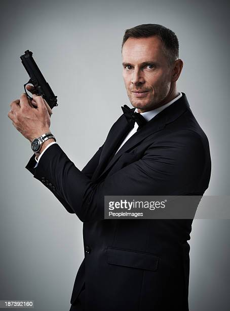 007 hat nicht auf ihn! - smoking stock-fotos und bilder