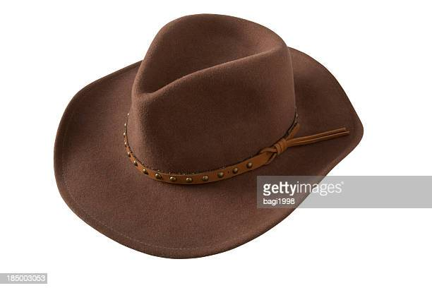 hat - brown hat stock photos and pictures