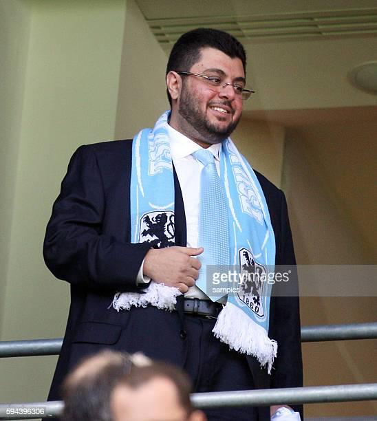 Hasan Abdullah Ismaik jordanischer Geschäftsmann als möglicher Investor im Gespräch beim TSV 1860 Munchen zu Gast in der Allianz Arena Fussball 2...