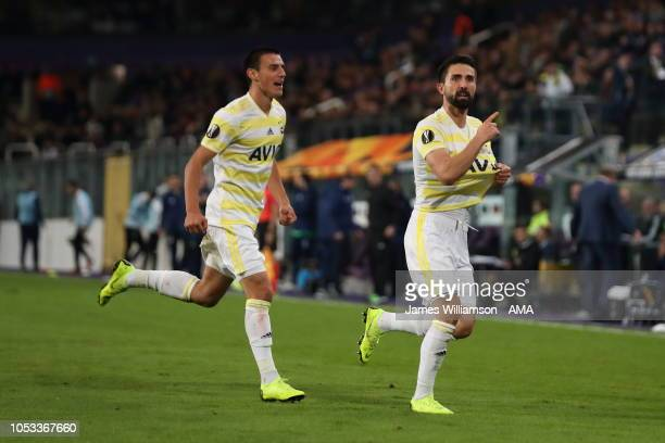 Hasan Ali Kaldirim of Fenerbahce celebrates after scoring a goal to make it 22 during the UEFA Europa League Group D match between RSC Anderlecht and...