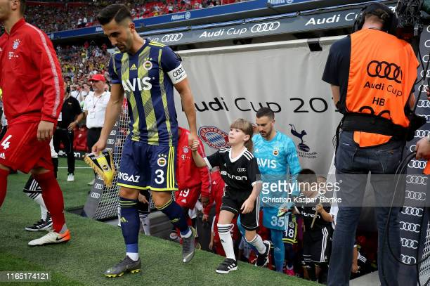 Hasan Ali Kaldirim of Fenerbahce enters the pitch for the Audi cup 2019 semi final match between FC Bayern Muenchen and Fenerbahce at Allianz Arena...