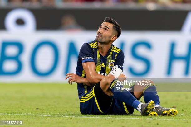 Hasan Ali Kaldirim of Fenerbahce Istanbul injured during the Audi cup 2019 semi final match between FC Bayern Muenchen and Fenerbahce at Allianz...