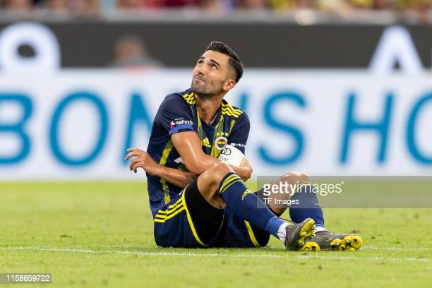 Hasan Ali Kaldirim of Fenerbahce Istanbul is injured during the Audi cup 2019 semi final match between FC Bayern Muenchen and Fenerbahce at Allianz...