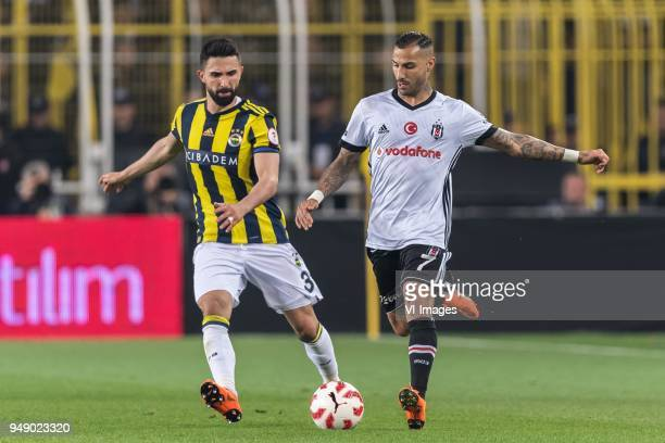 Hasan Ali Kaldirim of Fenerbahce SK Ricardo Andrade Quaresma Bernardo of Besiktas JK during the Ziraat Turkish Cup match Fenerbahce AS and Besiktas...