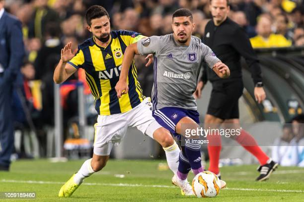 Hasan Ali Kaldirim of Fenerbahce SK Zakaria Bakkali of RSC Anderlecht during the UEFA Europa League group D match between Fenerbahce AS and RSC...