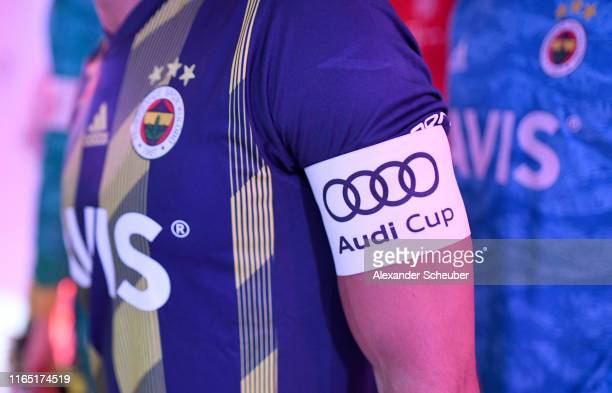 Hasan Ali Kaldirim of Fenerbahce wears the captain's armband prior the Audi cup 2019 semi final match between FC Bayern Muenchen and Fenerbahce at...