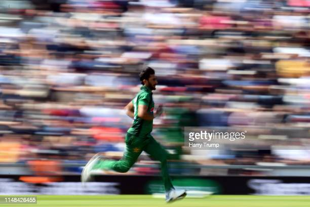 Hasan Ali of Pakistan bowls during the Second One Day International match between England and Pakistan at The Ageas Bowl on May 11 2019 in...