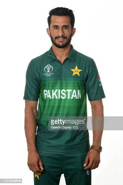 Hasan Ali of Pakistan poses for a portrait prior to the ICC Cricket World Cup 2019 at on May 25 2019 in Cardiff Wales