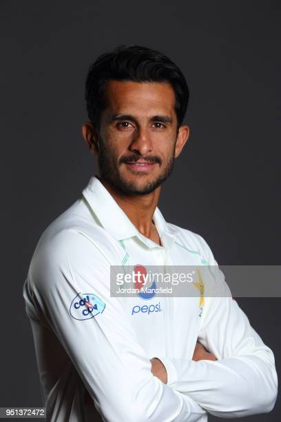 Hasan Ali poses for a portrait during the Pakistan Headshot Session at The Spitfire Ground on April 25 2018 in Canterbury England