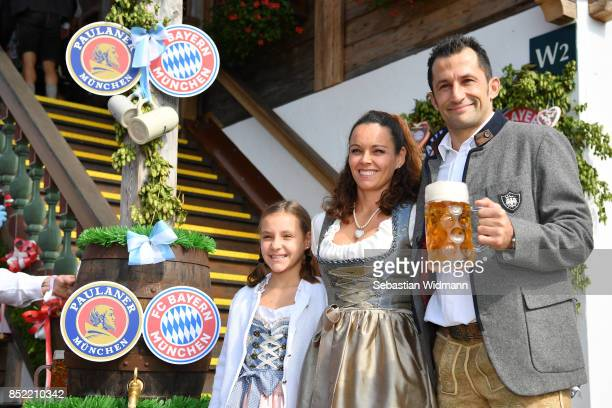 Hasan Brazzo Salihamidzic his wife Esther Copado and their daughter attend the Oktoberfest beer festival at Kaefer Wiesnschaenke tent at...