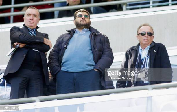 Hasan Ismaik , Jordanian investor of Muenchen, Ian Ayre , former CEO of FC Liverpool and Peter Casalette, president of Muenchen chat together prior...