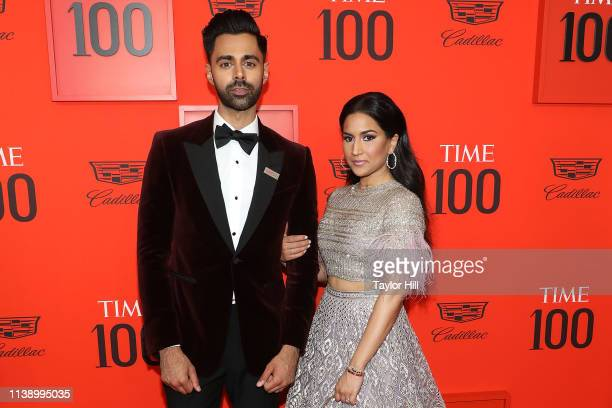 Hasan Minhaj and Beena Minhaj attend the 2019 Time 100 Gala at Frederick P Rose Hall Jazz at Lincoln Center on April 23 2019 in New York City