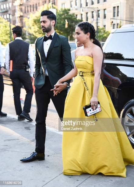 Hasan Minhaj and Beena Patel are seen outside the 2019 CFDA Fashion Awards at the Brooklyn Museum on June 03 2019 in New York City
