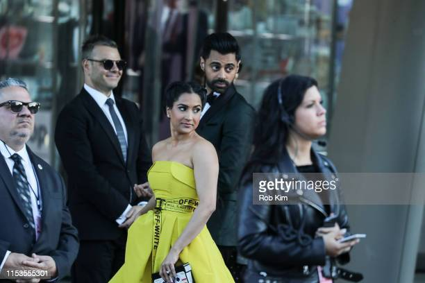 Hasan Minhaj and Beena Patel arrive for 2019 CFDA Fashion Awards at Brooklyn Museum on June 03, 2019 in New York City.