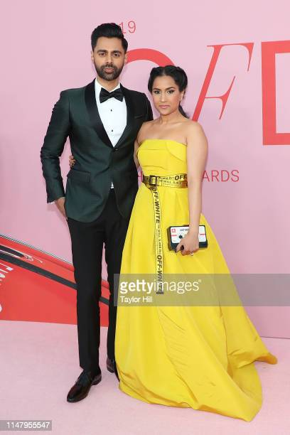 Hasan Minhaj and Beena Patel attend the 2019 CFDA Awards at The Brooklyn Museum on June 3 2019 in New York City