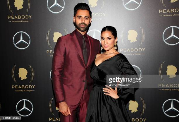 Hasan Minhaj and Beena Patel attend the 78th Annual Peabody Awards Ceremony Sponsored By MercedesBenz at Cipriani Wall Street on May 18 2019 in New...