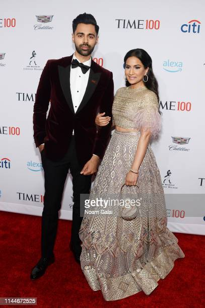 Hasan Minhaj and Beena Patel attends the TIME 100 Gala 2019 Lobby Arrivals at Jazz at Lincoln Center on April 23, 2019 in New York City.