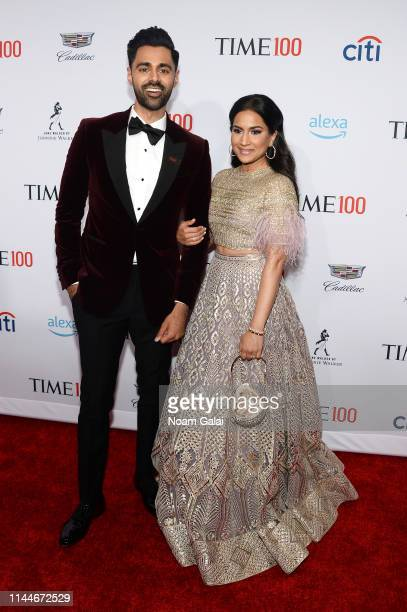 Hasan Minhaj and Beena Patel attends the TIME 100 Gala 2019 Lobby Arrivals at Jazz at Lincoln Center on April 23 2019 in New York City