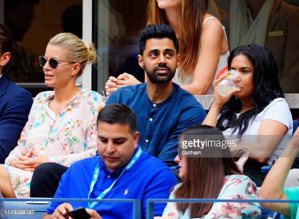 Hasan Minhaj and Beena Patel Minhaj at 2019 US Open Final on September 08, 2019 in New York City.