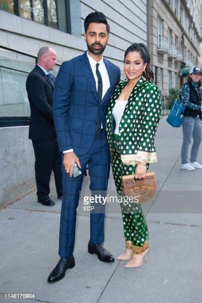 Hasan Minhaj and Beena Patel Minhaj attends NRDC Night of Comedy event on April 30 2019 in New York City