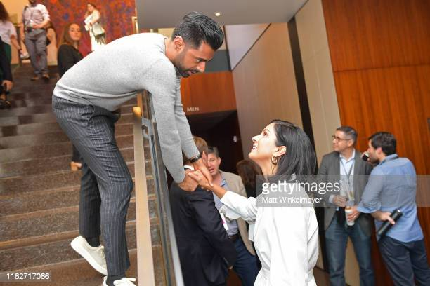 Hasan Minhaj and Vanity Fair EditorinChief Radhika Jones attend Vanity Fair's 6th Annual New Establishment Summit at Wallis Annenberg Center for the...