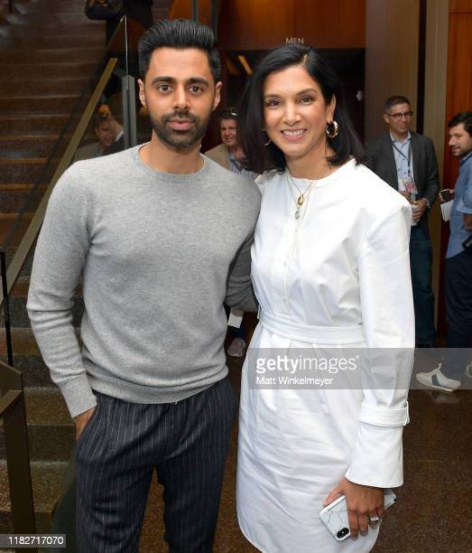 Hasan Minhaj and Vanity Fair Editor-in-Chief Radhika Jones attend Vanity Fair's 6th Annual New Establishment Summit at Wallis Annenberg Center for...