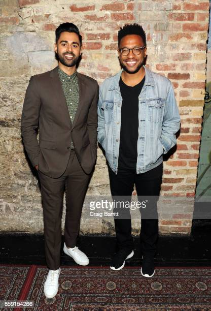 Hasan Minhaj and Vinson Cunningham attend The 2017 New Yorker Festival Hasan Minhaj Talks With Vinson Cunningham at Gramercy Theatre on October 8...
