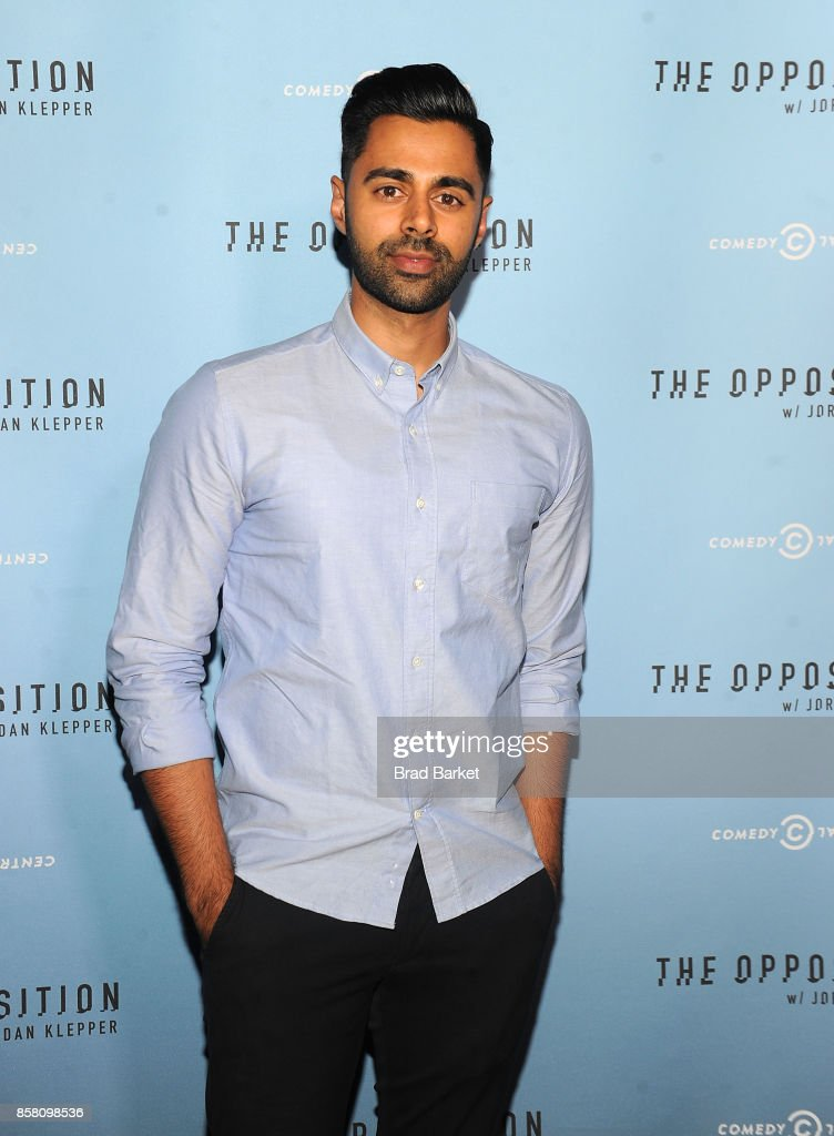 Hasan Minhaj attends Comedy Central's 'The Opposition w/ Jordan Klepper' premiere party at The Skylark on October 5, 2017 in New York City.