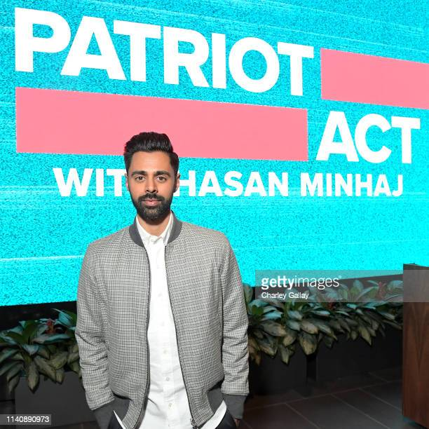 "Hasan Minhaj attends ""Patriot Act w/ Hasan Minhaj"" ATAS official screening & reception at Netflix Home Theater on April 06, 2019 in Los Angeles,..."