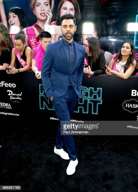"""Hasan Minhaj attends the """"Rough Night"""" New York Premiere on June 12, 2017 in New York City."""