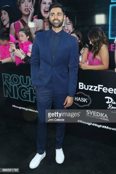 Hasan Minhaj attends the world premiere of 'Rough Night' at AMC Loews Lincoln Square 13 on June 12 2017 in New York City