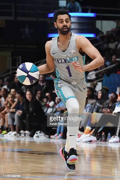 Hasan Minhaj handles the ball during the 2019 NBA AllStar Celebrity Game at Bojangles Coliseum on February 16 2019 in Charlotte North Carolina