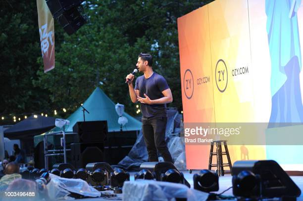 Hasan Minhaj performs onstage during OZY FEST 2018 at Rumsey Playfield Central Park on July 21 2018 in New York City