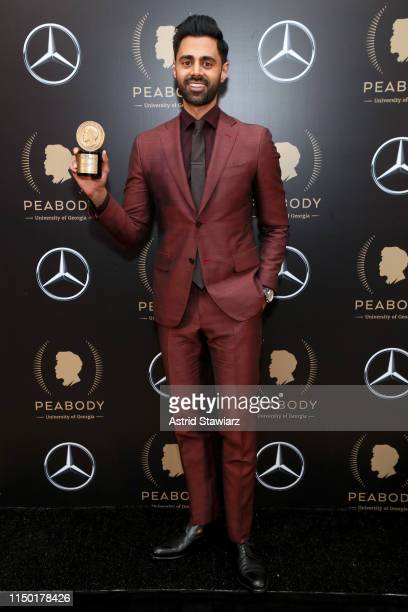 Hasan Minhaj poses in the press room of attends the 78th Annual Peabody Awards Ceremony Sponsored By Mercedes-Benz at Cipriani Wall Street on May 18,...