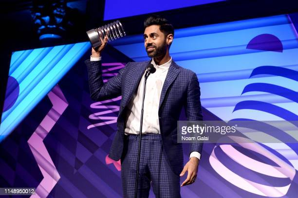 Hasan Minhaj receives award onstage during The 23rd Annual Webby Awards on May 13, 2019 in New York City.