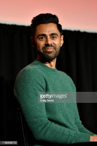 Hasan Minhaj speaks onstage during a talk with Carrie Battan at the 2019 New Yorker Festival on October 11, 2019 in New York City.