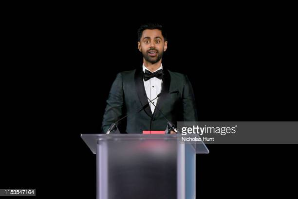 Hasan Minhaj speaks onstage during the CFDA Fashion Awards at the Brooklyn Museum of Art on June 03, 2019 in New York City.