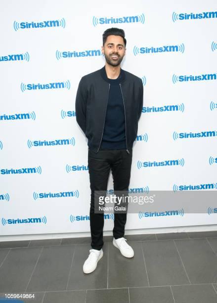 Hasan Minhaj visits the SiriusXM Studios on November 9, 2018 in New York City.