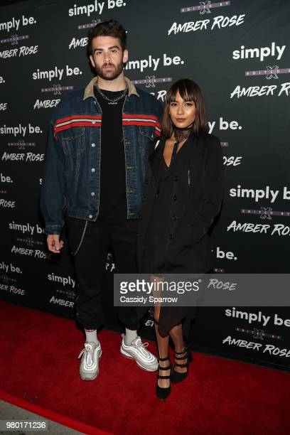 Hasan Piker and Janice Griffith attends the Amber Rose x Simply Be Launch Party at Bootsy Bellows on June 20 2018 in West Hollywood California