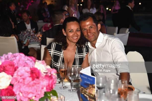 Hasan Salihamidzic and Esther Copado attend The Costa Smeralda Invitational Gala Dinner at Cala di Volpe Hotel - Costa Smeralda on June 17, 2017 in...