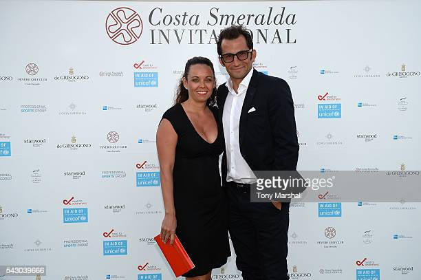 Hasan Salihamidzic and Esther Copado attend the Gala Dinner during The Costa Smeralda Invitational golf tournament at Pevero Golf Club Costa Smeralda...
