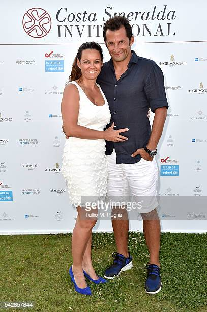 Hasan Salihamidzic and Esther Copado attend the Welcome Dinner prior to The Costa Smeralda Invitational golf tournament at Pevero Golf Club Costa...