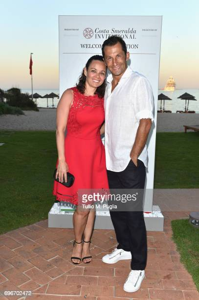 Hasan Salihamidzic and Esther Copado attend the Welcome Dinner prior to The Costa Smeralda Invitational golf tournamen at Pevero Golf Club Costa...